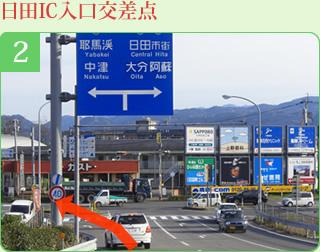 日田IC入口交差点